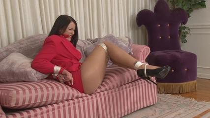 Busty Secretary Hogtied - Alexis Grace