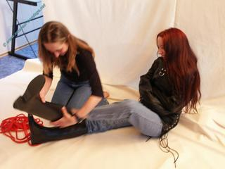 Jassi & Kallisti Straight Jacket-Bondage