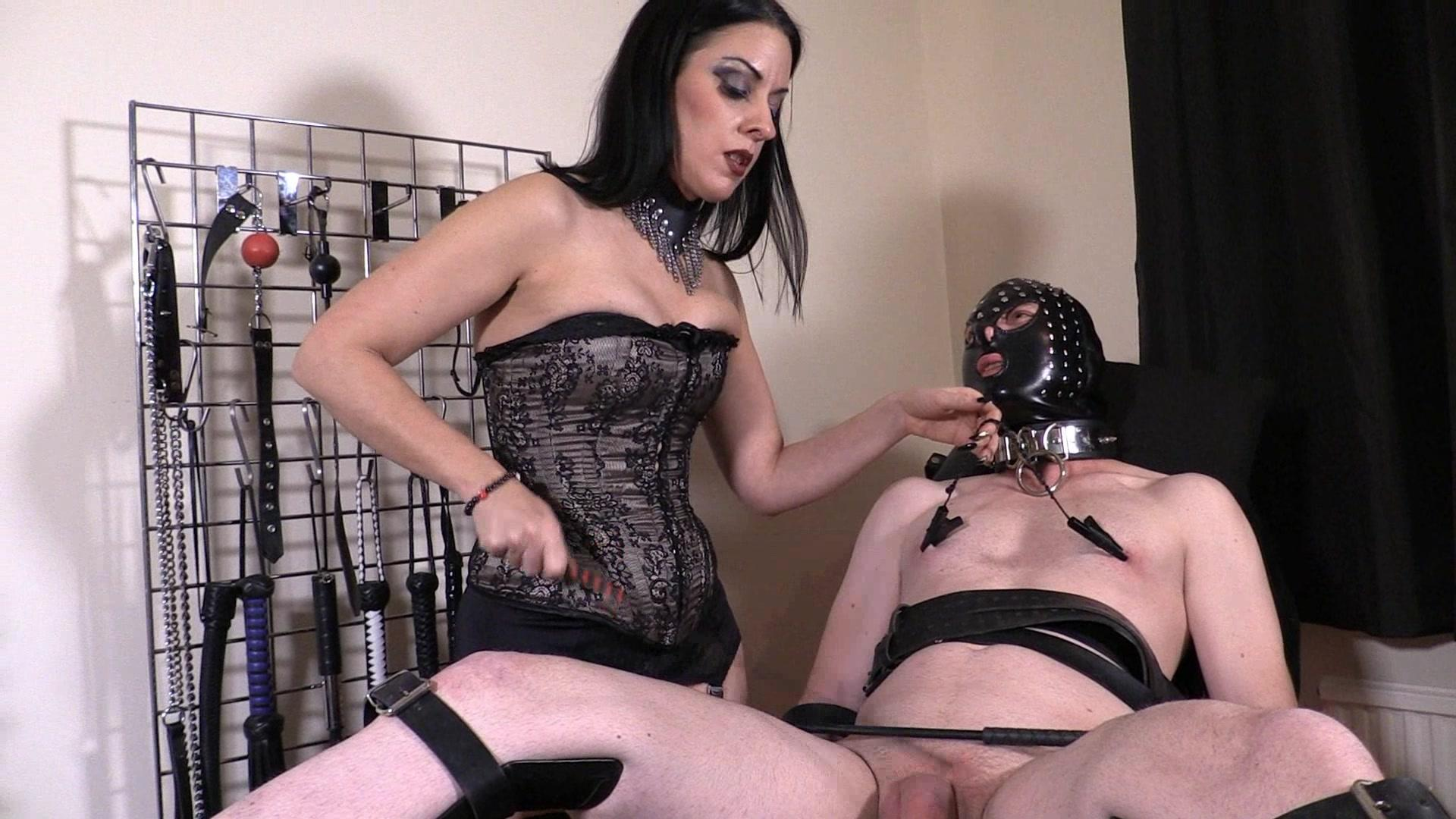 Femdom babe gives cbt and queens