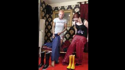 +++new+++ Miss Francine and Lady Nadja in AGU rainwear