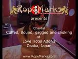 Chantal bound, gagged and collared at Love Hotel Adonis, Osaka, Japan 4