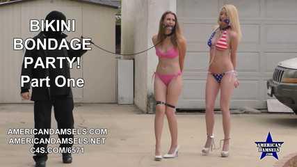 Bikini Bondage Party! - Part One - Ashley Lane - Gia Love