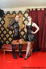 Miss Scarlett dominated by Lady Nadja with lots of rope and moutz filling gags