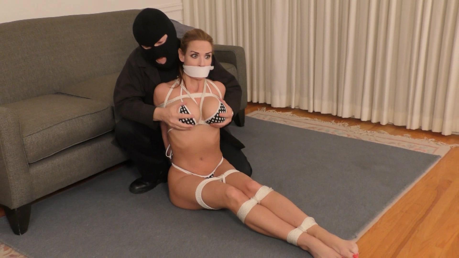 Bondage damsel gagged tied — pic 3