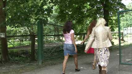 Angel Stops For A Pee In The Park
