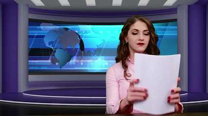 News Anchor Exposed on Live Broadcast - OUR TOPLESS STORY TONIGHT - Terra Mizu