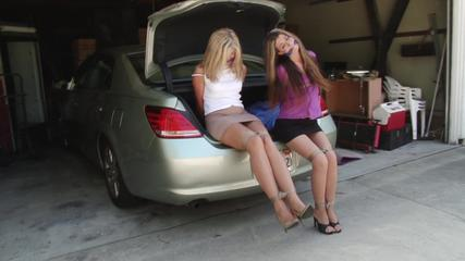 Car-Trunk Captives Constance and Dakkota Grey
