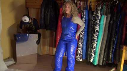 Watching sexy Sophie visiting crazy Sensation and putting on several downwear there (Video)