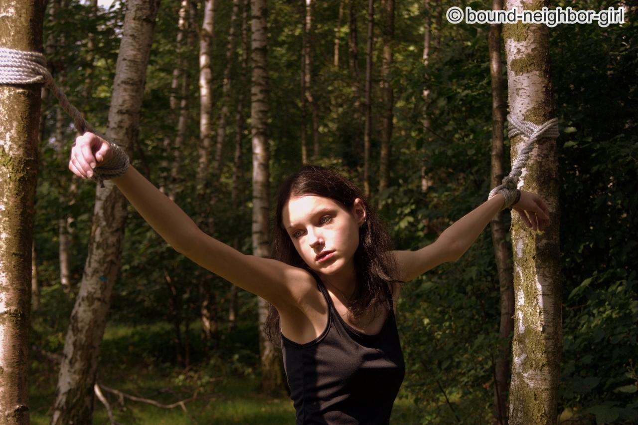 Gefesselt Im Wald