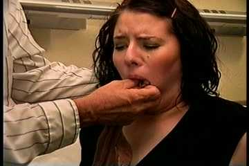 25 YEAR OLD DAY CARE WORKER GETS HER MOUTH STUFFED AND GAGGED WITH PANTYHOSE, HANDGAGGED, HOG-TIED ON BED, GAG TALKING AND SWEATY FEET TICKLING 8:18 (D75-1)