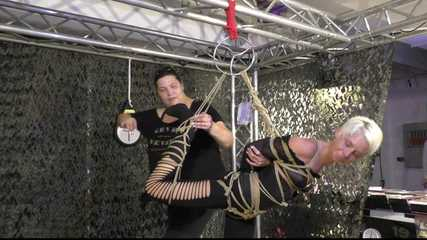 Fantastic Suspension Demonstration With Lena King, tied by Delona !