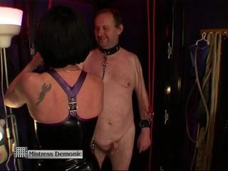 Gas Mask & Strap On Humiliation