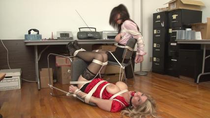 Big-Tit Secretaries in Bondage - Carissa and Ashley