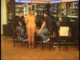 Chris with two guys at the nudist-bar 5