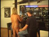 Chris with two guys at the nudist-bar 7