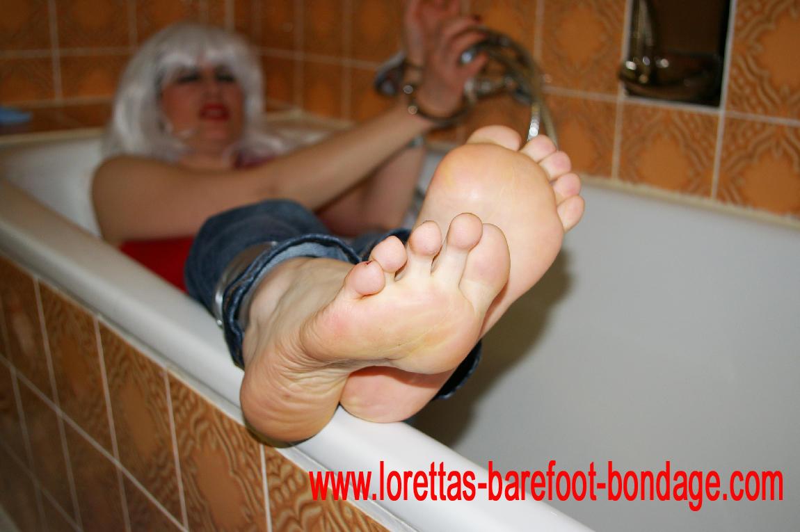 foot bondage Bare