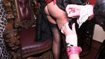 Mistress Erika and Julia's Stocking Slave -  Mistress Erika's Fully Fashioned Stockings (HD wmv)