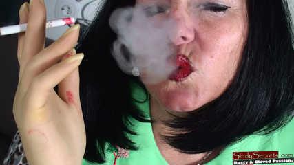 Sindy smoking in Thin Gloves