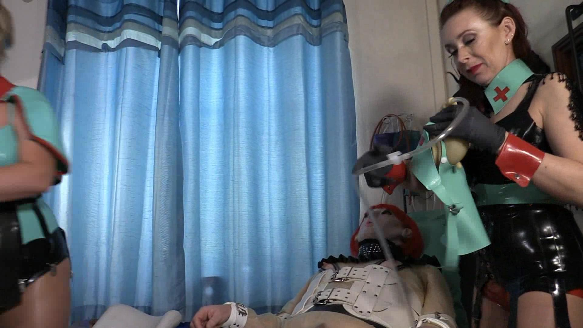 Mistresses Erika and Julia's Nasty Clinic - Piss By Mouth (HD wmv) 2