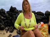Finger in my pussy on the beach 6