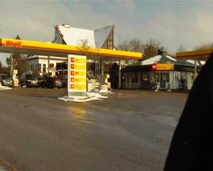 Public sex at the gas station