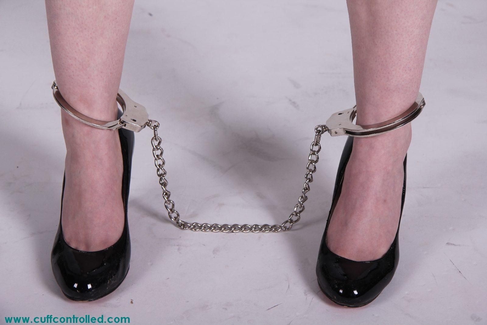 handcuffed high heels