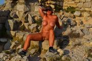 Nude walk to an old castle 5