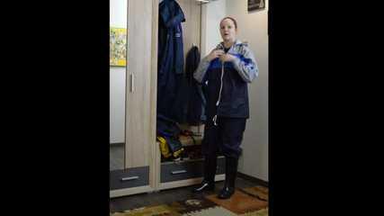 Lady Nadja testing some nylon raingear and selfbondage (3 videos)