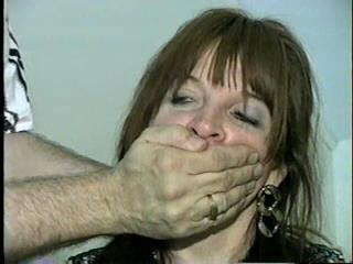 42 Yr OLD DIANE ACE BANDAGE & RING-GAGGED (D16-10)