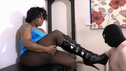 Mistress Esme - Hump My Boots You Dirty Boot Fucker (HD wmv)